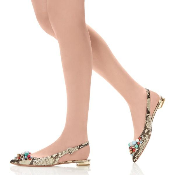 women-s-aquazzura-snake-slingback-shoes-bonbon-pointy-toe-flats