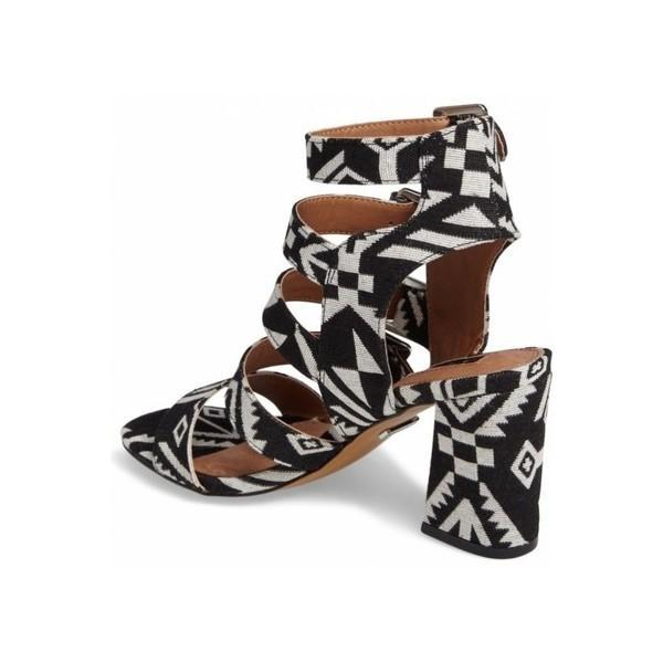 Buckles Block Heel Sandals-2