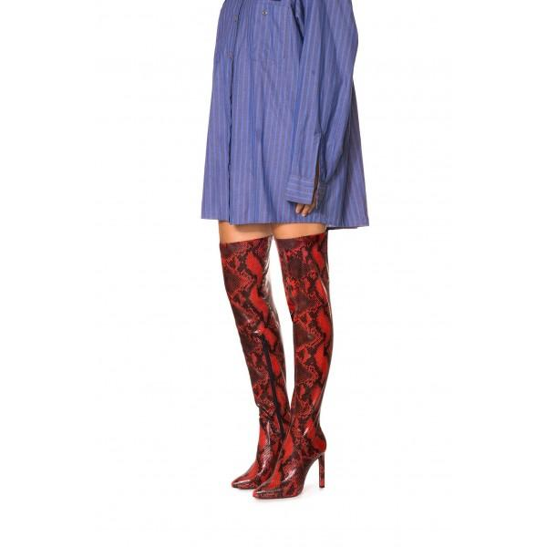 red-and-black-python-long-boots-stiletto-heel-thigh-high-boots