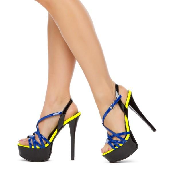 black-and-blue-stiletto-heels-platform-sandals-open-toe-sandals