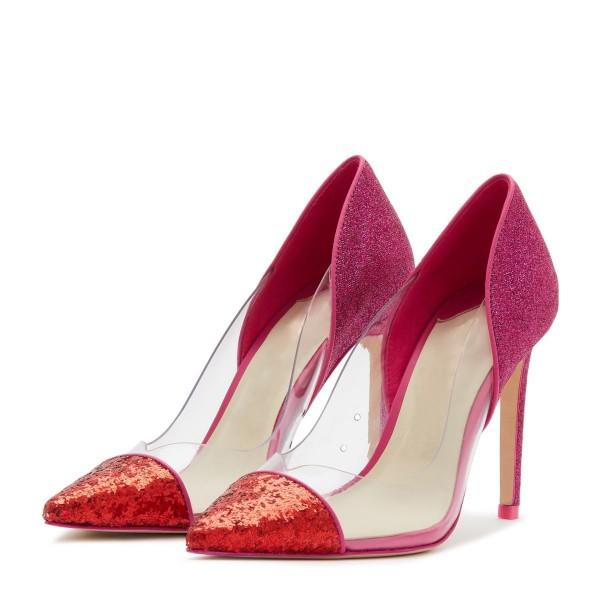 Clear PVC Stiletto Heel Pumps #1-1