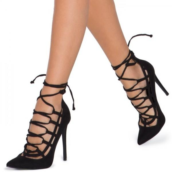 women-s-black-crossed-straps-lace-up-heels-sandals