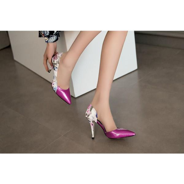 Floral Print Stiletto Heel Pumps #2-2