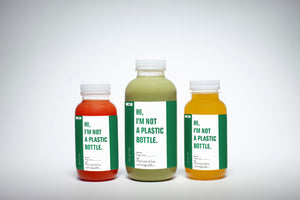 Compostable juice bottles