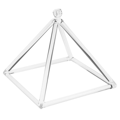 "7"" Quartz Crystal Pyramid A# for Third Eye Chakra Meditation"