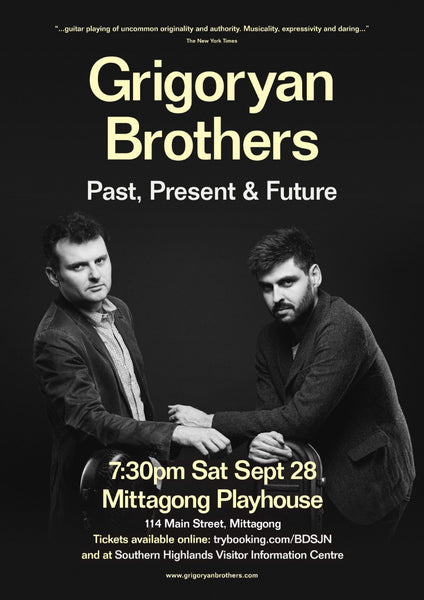 Grigoryan brothers playing at the Mittagong Playhouse