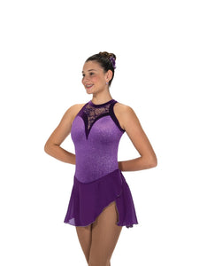 Jerry's 221 Lace Drop Ice Skating Dress in Purple