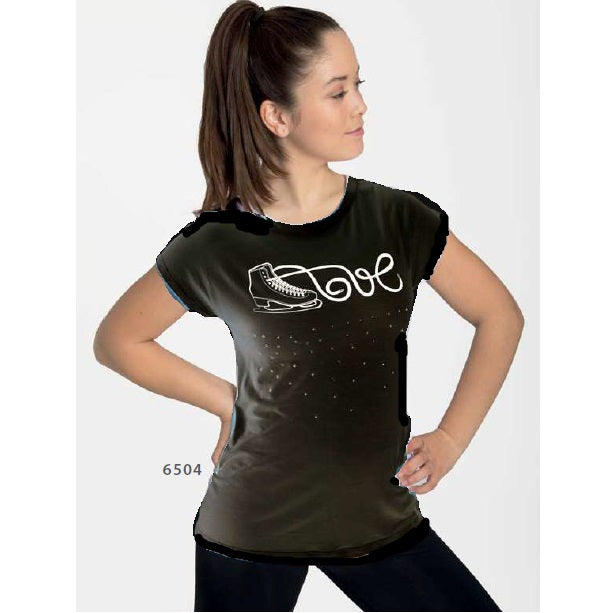 Intermezzo 6504 Love Skate T-shirt in Black