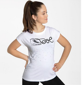 Intermezzo 6504 Love Skating T-shirt in White