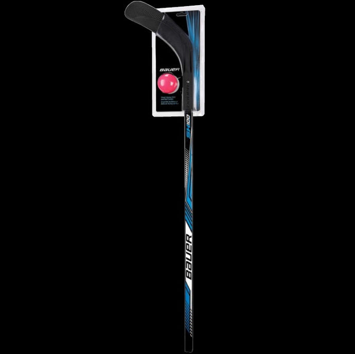 Bauer Street Hockey Stick and Ball Combo