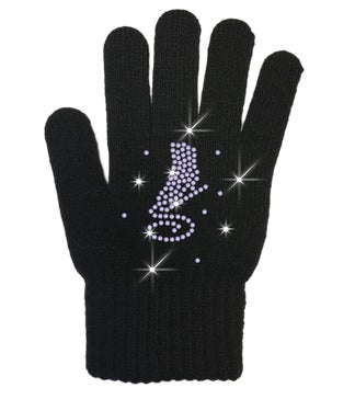 Chloe Noel Gloves with Crystal Design