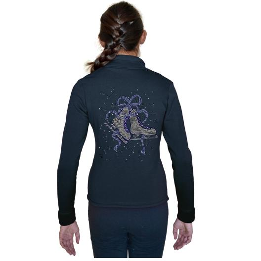 ChloeNoel Ribbon Skates Blue Polartec® Fleece Jacket