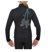 Load image into Gallery viewer, Chloe Noel Crystal Jacket with Blue Skate Design