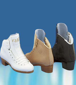 Graf Dance Ice Skate  Boot Only Figure Skates - White and Beige