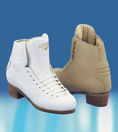 Graf Edmonton Special Boot Only Figure Skates - White and Beige