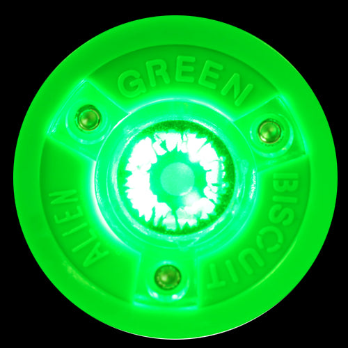 Green Biscuit Alien Stick Handling Puck