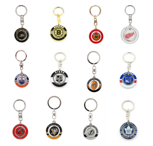 Ice Hockey NHL Team Spinner Key Ring