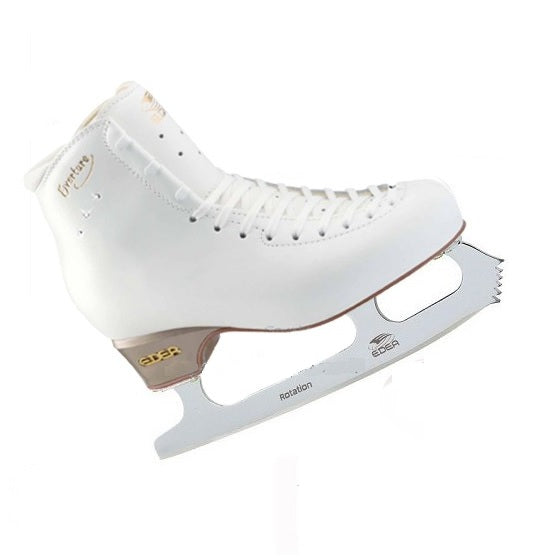 Edea Overture Ice Skates with Fitted Rotation Blade - White