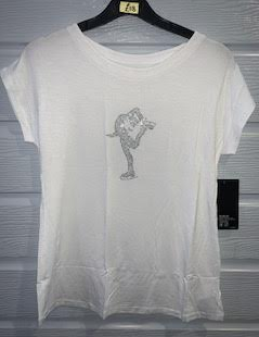 Intermezzo 6490 Skate T-shirt in White
