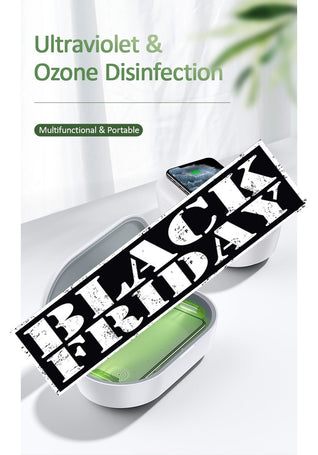 Ultraviolet & Ozone Disinfection for Cell phones, with wireless charging.