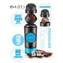 Kofi Portable Electronic Espresso Machine Infographic