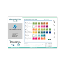 SA Clean Water Water Test Strips Label