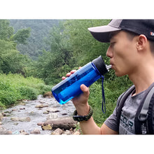 Survival Series Water Filter Bottle Drinking Lifestyle