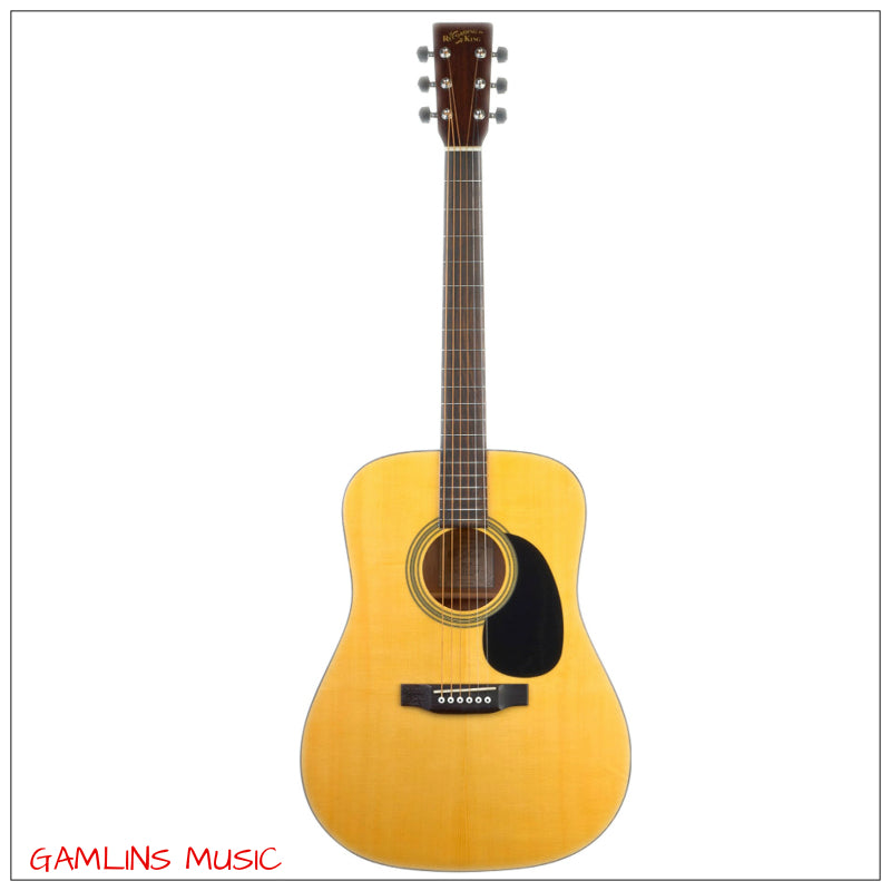 Recording King RD-06 Solid Top Acoustic Dreadnought Guitar - Natural