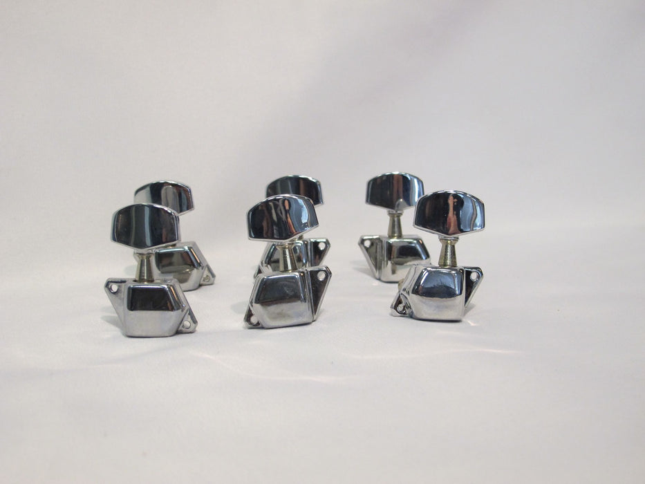 Guitar Machine Heads, Round, Chrome