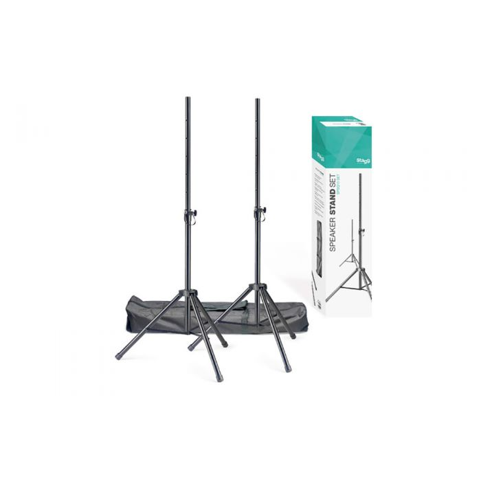 Stagg SPSQ10s Speaker Stands Set with Bag