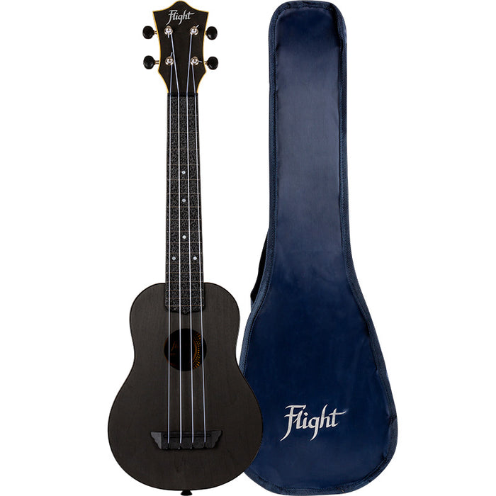 Flight Travel Series TUSL35 Black Concert Scale Soprano Ukulele