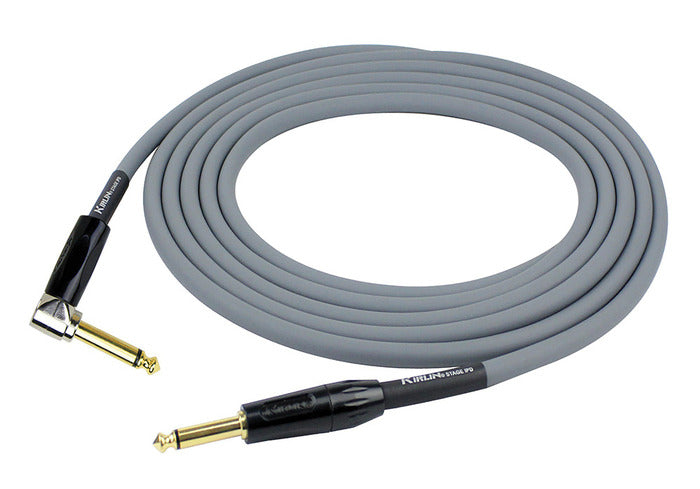 Kirlin Stage Series Instrument Cable - Straight to Angled - 20ft - Grey