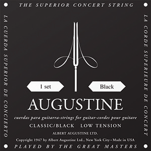 Augustine Classic Black Classical Guitar Strings - Low Tension