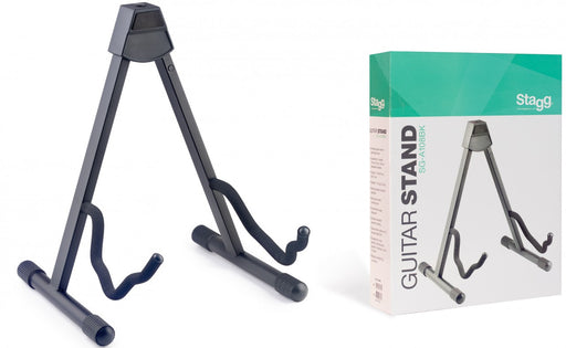 Stagg Foldable A-frame Acoustic/Electric Guitar Stand - Black
