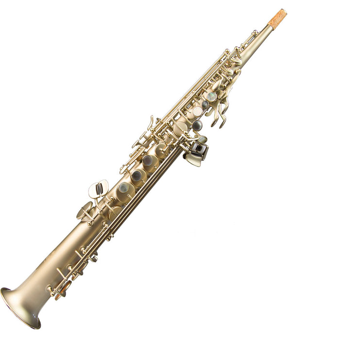 "Trevor James ""HORN 88"" Soprano Saxophone Outfit - Rust Gold"