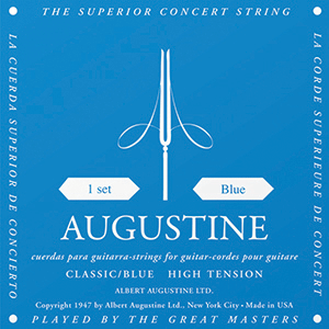 Augustine Classic Blue Classical Guitar Strings - High Tension