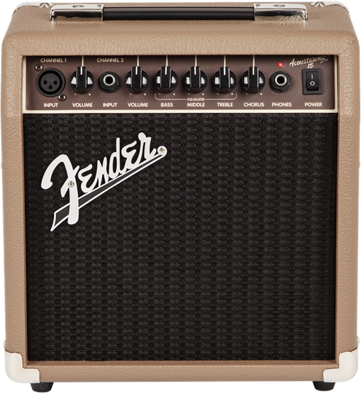 Fender Acoustasonic™ 15 - Brown & Wheat