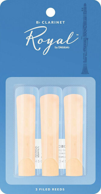 Royal by D'Addario Bb Clarinet Reeds - 2.0 - 3-Pack