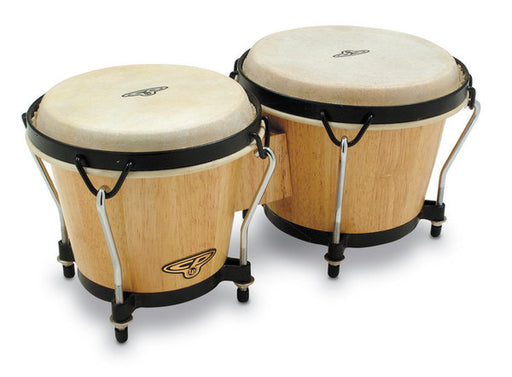 Latin Percussion CP Traditional Bongos with Bag - Natural Wood