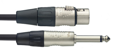 Stagg N Series - Mono 1/4 Inch Jack to Female XLR Microphone Cable - 10ft