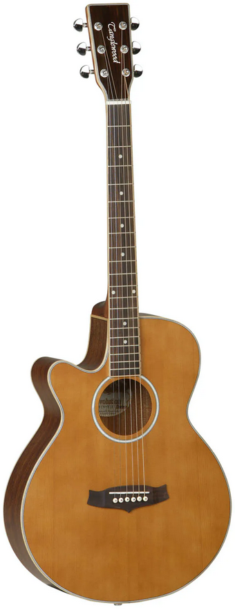 Tanglewood TSF CE N LH Left Handed Electro Acoustic Super Folk Guitar - Natural