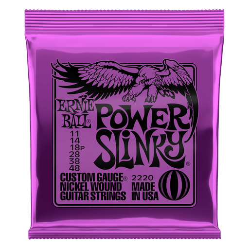 Earnie Ball Power Slinky Nickel Wound Electric Guitar Strings - 11-48 Gauge