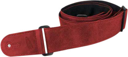 "Leathergraft Liverpool - 2"" Adjustable Guitar Strap - Red"