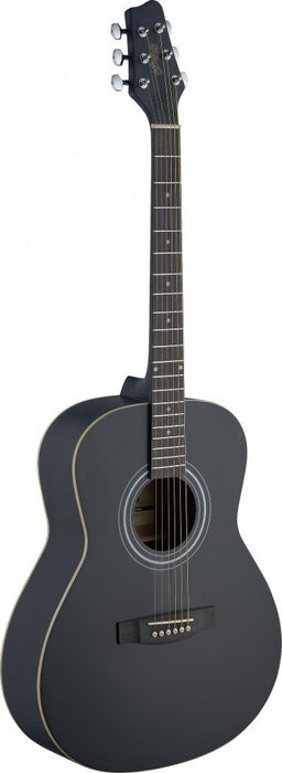 Stagg SA30A-BK LH Left Handed Acoustic Auditorium Guitar - Satin Black