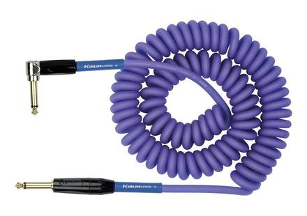 Kirlin Premium Coil Instrument Cable - Straight to Angled - 30ft - Purple