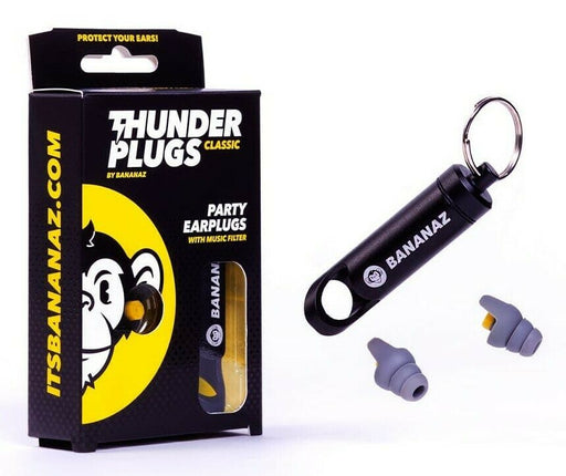 Bananaz Thunderplugs Classic - Party Ear Plugs for Musicians Inc Keychain Case