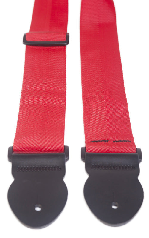 "Leathergraft Liverpool - 2"" Webbing Guitar Strap - Red"