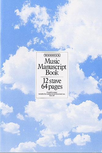 Woodstock: Music Manuscript Book: 12 Stave 64 Pages Stitched