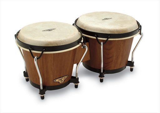 Latin Percussion CP Traditional Bongos with Bag - Brown Wood