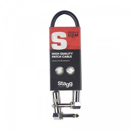 Stagg S Series Patch Cable - Angled to Angled - 12 Inch
